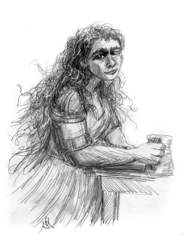 12_11_Dwarf_maiden_sketch001_BW_enh_800_modified