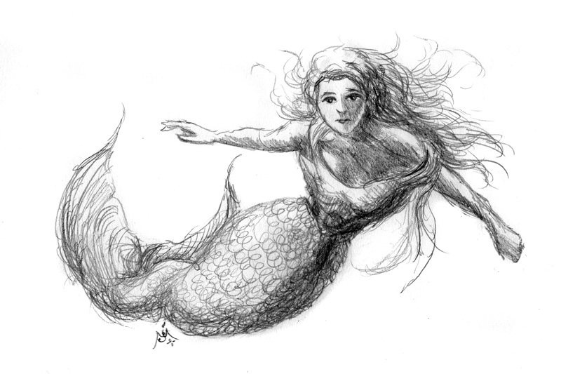 14_05_4326s_Mermaid_sketch001_BW_enh_800_flipped