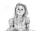 Intense Little Girl