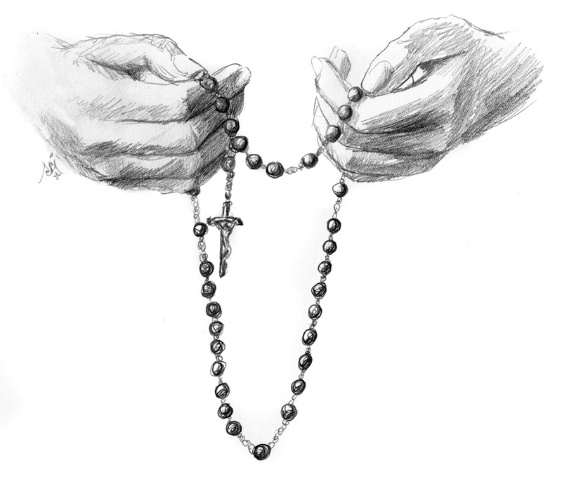 12_05_Hands_with_rosary_sketch001_BW_enh_800