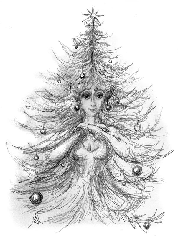 12_11_4117s_Entmaiden_christmas_sketch001_BW_enh_800