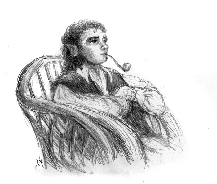 13_07_4201s_Bilbo_smoking_sketch001_BW_enh_700
