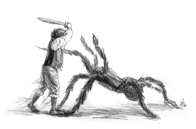 13_08_4218s_Bilbo_and_the_spider001_BW_enh_800